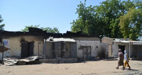 Maisons détruites par Boko Haram dans l'Etat du Borno, nord du Nigeria / REUTERS