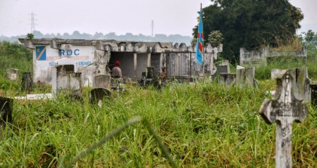 Une vue du Cimetière de Kinsuka, Kinshasa, RDC / AFP