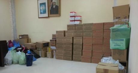 Des médicaments collectés par de jeunes Algériens au profit des Gazaouis / source Ppage Facebook SWPFA