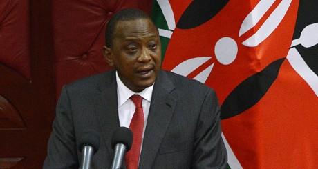 Uhuru Kenyatta, le président du Kenya, Nairobi, 6 octobre 2014 / AFP
