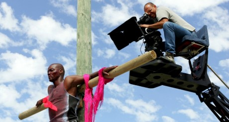 Tournage de Jezile, un film sud-africain / REUTERS