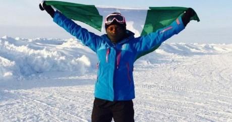 Capture d'écran de Tuedon Morgan au marathon du Pôle Nord.