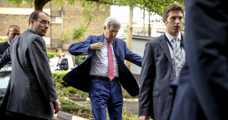 John Kerry lors d'une visite à Nairobi, le 4 mai 2015. REUTERS/Andrew Harnik/Pool