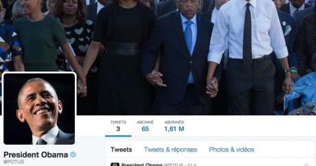 Capture d'écran du compte Twitter de Barack Obama.