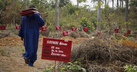 Un cimetière de victimes du virus Ebola en Guinée. REUTERS/Misha Hussain