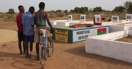 La tombe de Thomas Sankara à Ouagadougou. REUTERS/Joe Penney
