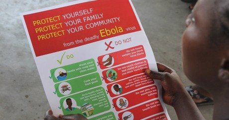 Une fiche de prévention contre Ebola au Liberia. Credit photo: UNICEF Liberia via Flickr