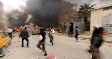 Scène de guerre dans la vielle de Idlib en Syrie, le 5 avril 2015. REUTERS/Ammar Abdallah