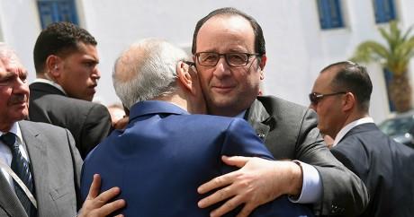 Le président français François Hollande et son homologue tunisien Beji Caid Essebsi. REUTERS/Emmanuel Dunand/Pool