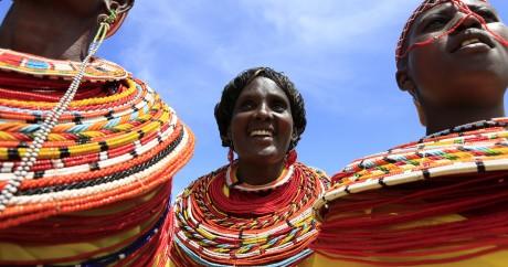 Des femmes de la région de Samburu au Kenya. Photo REUTERS/Noor Khami
