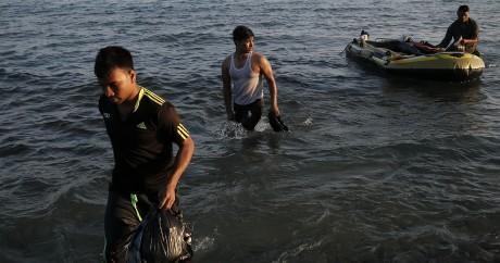 Des réfugiés arrivent sur l'île grec de Kos, le 18 août 2015. Crédit photo: REUTERS/Alkis Konstantinidis