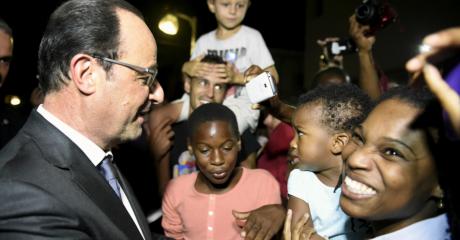 Le président Francois Hollande en visite en Martinique en mai 2015. Crédits REUTERS