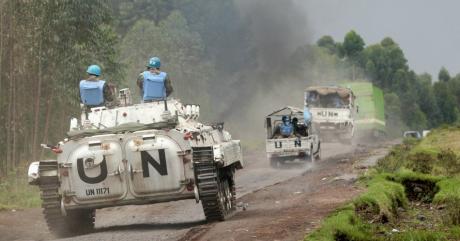 Des casques bleus près de Goma, en République démocratique du Congo, le 7 août 2013 | REUTERS/Thomas Mukoya