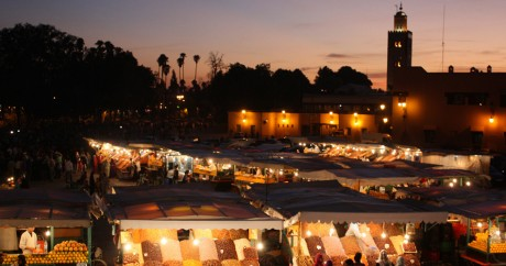 Le marché nocture de Djemaa el Fna à Marrakech. Crédit photo: Martin Fisch via Flickr, license by CC