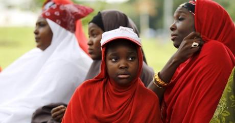 Des Nigérianes prient pour les lycéennes de Chibok, le 21 août 2015. Crédit photo:REUTERS/Afolabi Sotunde