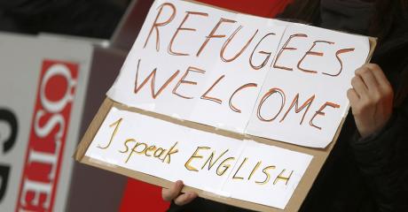 A la gare de Vienne, le 6 septembre 2015. REUTERS/Dominic Ebenbichler