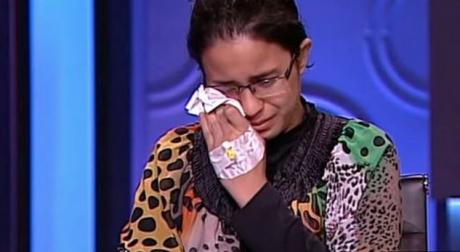 Capture d'écran d'une émission tv à laquelle a participé Mariam Malak sur la tv égyptienne.