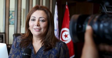 Wided Bouchamaoui, la présidente de la Confédération tunisienne de l'industrie le 9 octobre 2015. Photo: REUTERS/Zoubeir Souissi