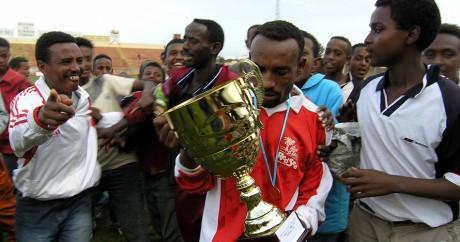 Des footballeurs érythréens en 2005. Crédit photo: REUTERS/Ed Harris