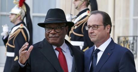 Le président malien «IBK» et François Hollande, le 12 janvier 2015 à l'Elysée. Crédit photo: REUTERS/Pascal Rossignol