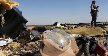 Les débris du crash de l'appareil de Metrojet. REUTERS/Mohamed Abd El Ghany.