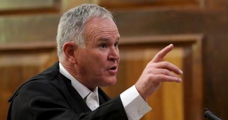 Barry Roux, l'avocat d'Oscar Pistorius, le 3 novembre 2015. Crédit photo: REUTERS/Siphiwe Sibeko