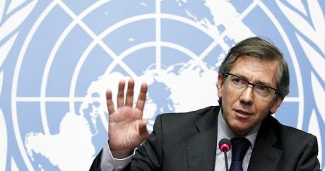 Bernardino Léon le médiateur de l'ONU pour la paix en Libye, le 11 août 2015. Crédit photo: REUTERS/Pierre Albouy