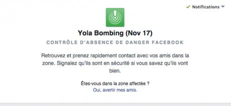 Capture d'écran sur Facebook.