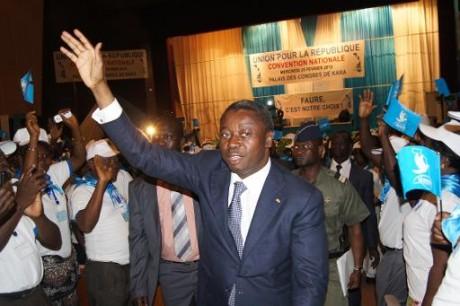 Le président du Togo, Faure Gnassingbé, le 15 février 2015 à Kara AFP/Archives Emile Kouton