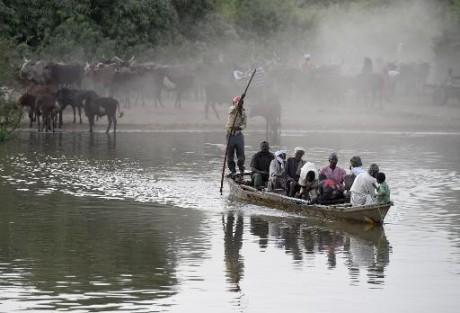 Une section du lac Tchad le 30 mars 2015 AFP/Archives Philippe Desmazes