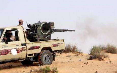 Des miliciens de Fajr Libya (Aube de la Libye). Tripoli AFP/Mahmud Turkia