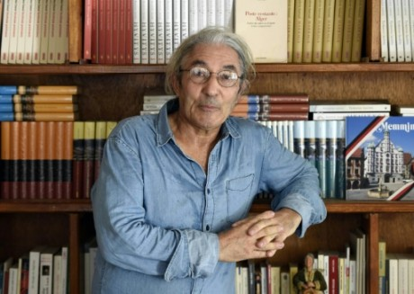 L'écrivain algérien Boualem Sansal, dans sa maison, le 17 août 2015, à Bourmedes. Photo AFP Farouk Batiche