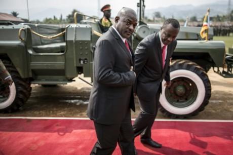 Le président burundais Pierre Nkurunzuza à Bujumbura, le 1er juillet 2015 AFP/Archives Marco Longari