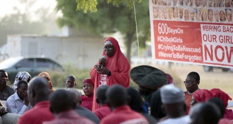 Des femmes manifestent pour la liberté des lycéennes de Chibok, le 1er janvier 2016. Photo: REUTERS/Afolabi Sotunde