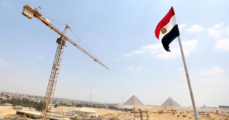 Le nouveau musée des pyramides de Gizeh, ici en cours de construction, est l'un des grand projets égyptiens.REUTERS/Abd El Ghany