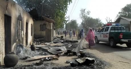Des habitations détruites par le feu dans le village de Dalori, le 31 janvier 2016. Crédit photo: STRINGER / AFP