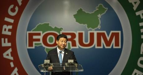 Le président Xi Jinping lors du Forum sur la coopération Chine-Afrique, le 4 décembre 2015. Photo: MUJAHID SAFODIEN / AFP