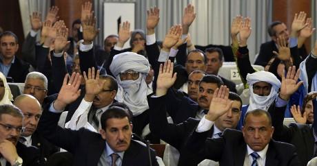 Des parlementaires algériens votent la réforme constitutionnelle, le 7 février 2016. Crédit photo: FAROUK BATICHE / AFP