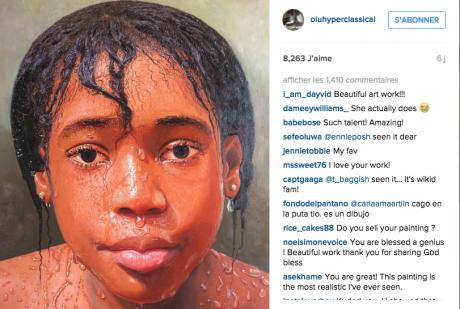 Capture d'écran du compte Instagram d'Oresegun Olumide. DR
