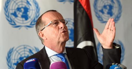 L'envoyé spécial de l'ONU en Libye, Martin Kobler, le 27 janvier 2016 à Tunis. Crédit photo: Fethi Belaid / AFP