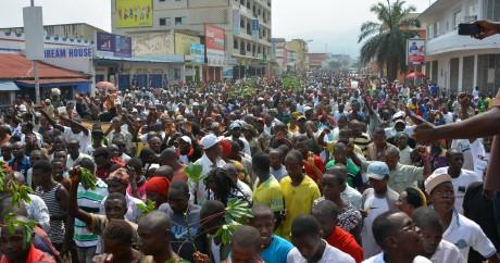 Une manifestation le 13 février 2016 dans les rues de Bujumbura. Crédit photo: STRINGER / AFP