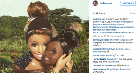 Capture d'écran du compte Instagram «White Savior Barbie».