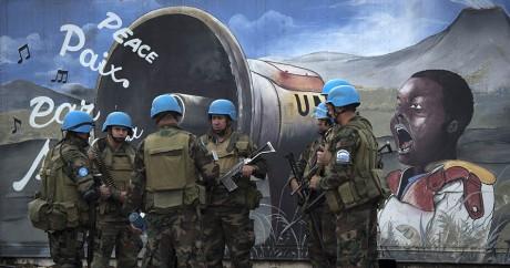 Des soldats de l'ONU à Goma au Congo, le 21 avril 2016. Crédit photo: PABLO PORCIUNCULA / AFP