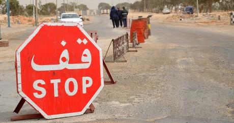 À la frontière entre la Tunisie et la Libye, au point de passage de Ras Jedir le 22 mars 2016. Crédit photo: FATHI NASRI / AFP