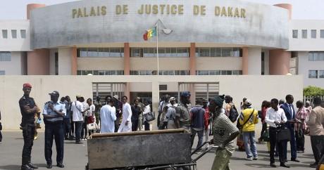 Le palais de justice de Dakar lors du procès de Habré, le 30 mai 2016. SEYLLOU / AFP