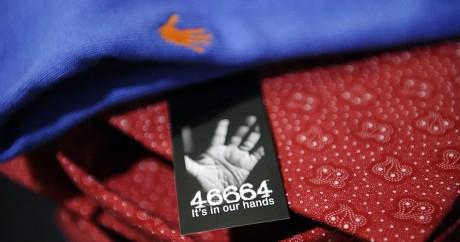 La marque sud-africaine 46664 Apparel tire son nom du numéro de prisonnier de Nelson Mandela. STEPHANE DE SAKUTIN / AFP
