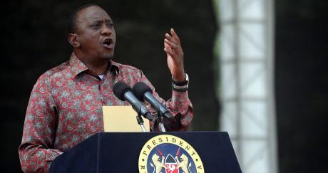 Le président kényan Uhuru Kenyatta lors d'un événement interreligieux en avril 2016. TONY KARUMBA / AFP