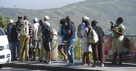 Les Africains aussi font du tourisme, ici à Robben Island en Afrique du Sud. The Exhibition List