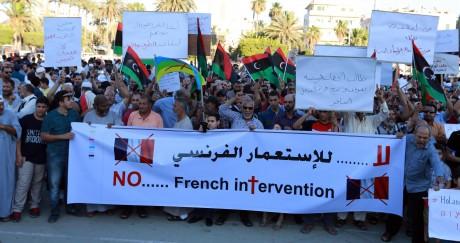 Les manifestants étaient nombreux à Tripoli le mercredi soir pour s'insurger. STRINGER / AFP