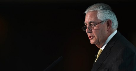 Rex Tillerson, l'ancien PDG d'ExxonMobil, le 7 octobre 2015. BEN STANSALL / AFP